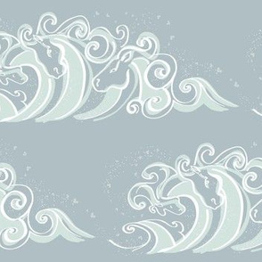 Large Waves of White horses