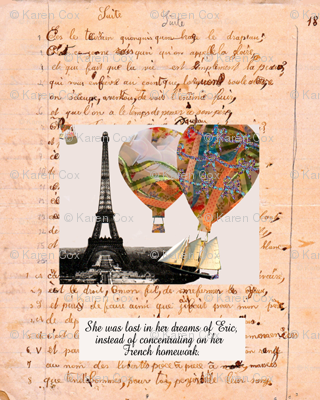 French Homework Daydreams Personalized