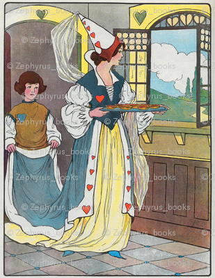 Mother Goose Nursery Rhyme The Queen of Hearts, She made some tarts, All on a summer's day