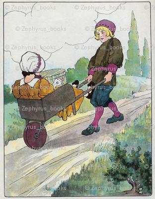 Mother Goose Nursery Rhyme The wife in the wheelbarrow