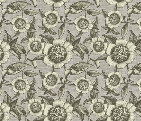 Camelia organica fabric by brainsarepretty on Spoonflower - custom fabric