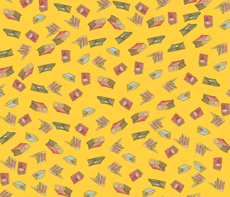 More, more books! fabric by nekanen_designs on Spoonflower - custom fabric