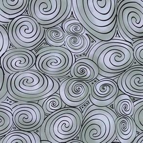Large Celtic Tri-Spiral Silver