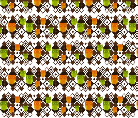 Geometic Owls fabric by ninjaauntsdesigns on Spoonflower - custom fabric