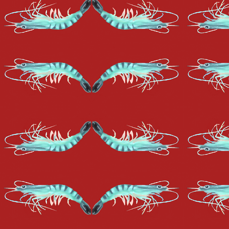 Crayfish Ballet  fabric by robin_rice on Spoonflower - custom fabric
