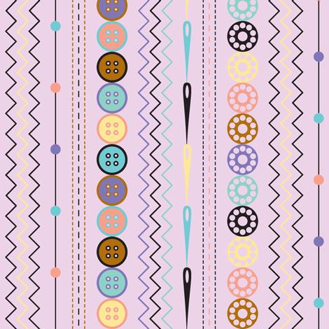Retro Sewing Stripe fabric by modgeek on Spoonflower - custom fabric