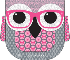 Geeky Owl Bag - PINK! - KONA version