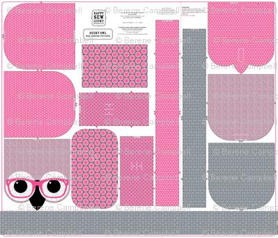 Geeky Owl Bag - PINK! - KONA version