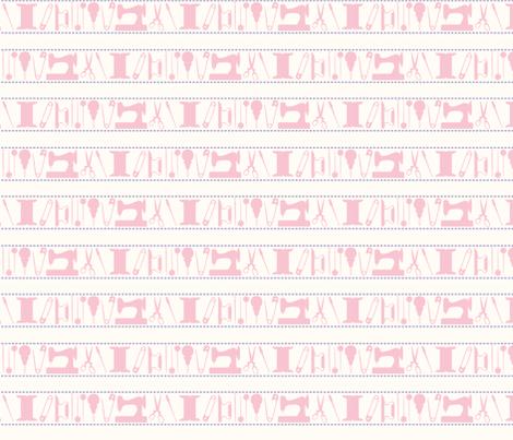 tools_stripes_pink fabric by natasha_k_ on Spoonflower - custom fabric