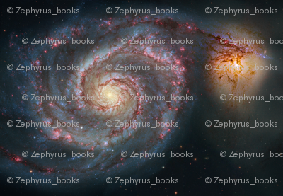 Astronomy Galaxy Repeat Pattern