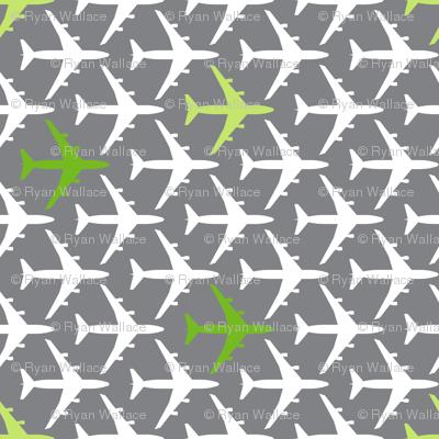 Green Planes on Gray
