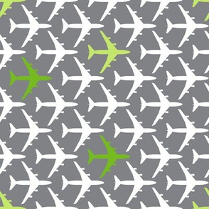 Green Planes on Gray