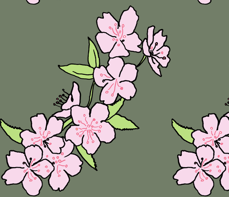 pink blossom fabric by eat_my_sweet_dust on Spoonflower - custom fabric