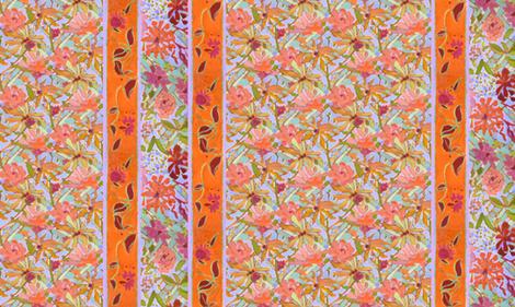 Pastel Wildflowers Wide Stripe