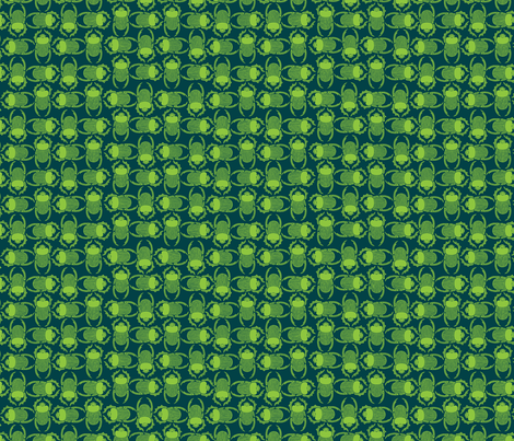 bright green beetles fabric by hannafate on Spoonflower - custom fabric