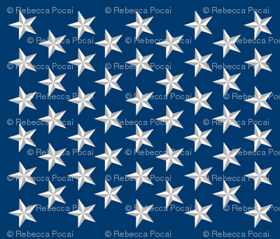 Distressed Patriotic Stars 50 Star Panel