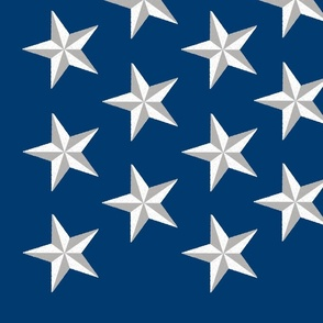 Distressed Patriotic Stars 50 Star Panel