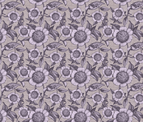 Camelia Organica Lilac fabric by brainsarepretty on Spoonflower - custom fabric