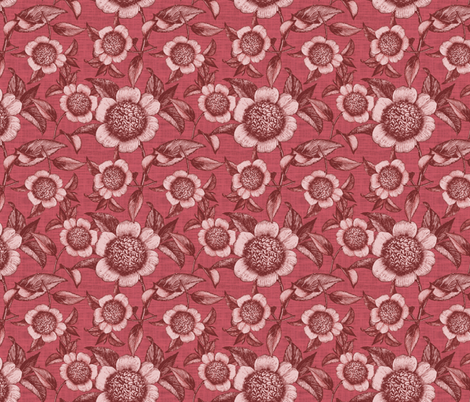 Camelia Organica Rose fabric by brainsarepretty on Spoonflower - custom fabric