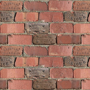 Bricks Pattern - Large - Repeating Red Clay Bricks