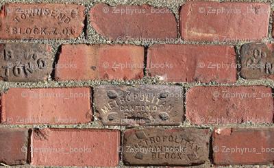 Bricks Pattern - Small - Repeating Red Clay Bricks