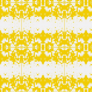Peeling Paint Weave White Yellow