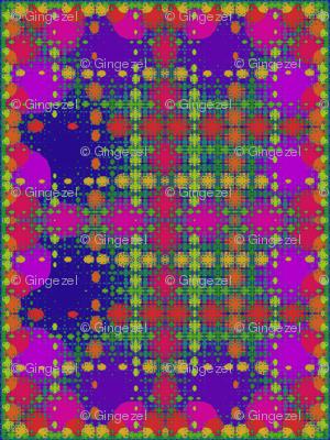 Berry Fractal Plaid © Gingezel™ 2013