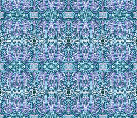 Angel Wings (big, blue/lavender) fabric by edsel2084 on Spoonflower - custom fabric