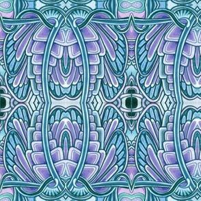 Angel Wings (big, blue/lavender)