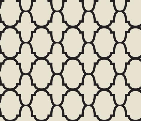 Quatrafoil- Black fabric by mrsmberry on Spoonflower - custom fabric