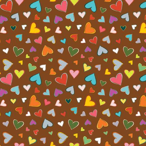 Sketchy Hearts fabric by heidiryancreative on Spoonflower - custom fabric