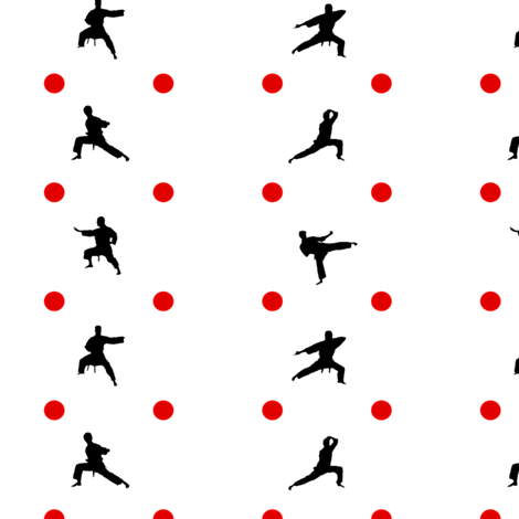Taekwondo Red Dots fabric by verystarry on Spoonflower - custom fabric