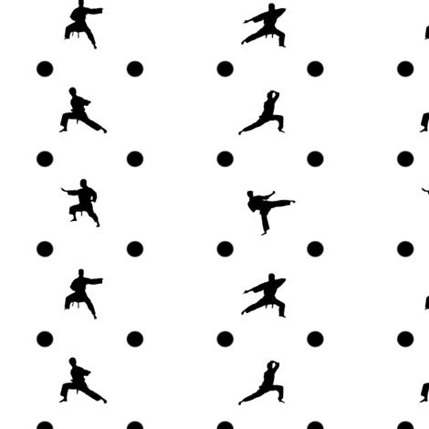 Taekwondo Black Dots fabric by verystarry on Spoonflower - custom fabric