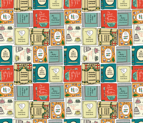 cookbook collection fabric by jeannemcgee on Spoonflower - custom fabric