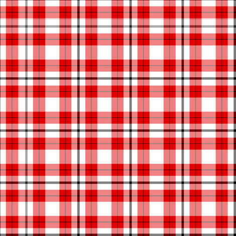 Red Plaid fabric by verystarry on Spoonflower - custom fabric