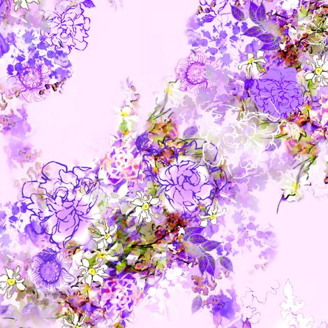 Cool Garden fabric by joanmclemore on Spoonflower - custom fabric