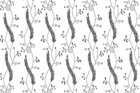 Regency Embroidered Blackwork fabric by bonnie_phantasm on Spoonflower - custom fabric