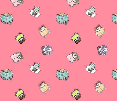 Restless readers fabric by sheila's_corner on Spoonflower - custom fabric