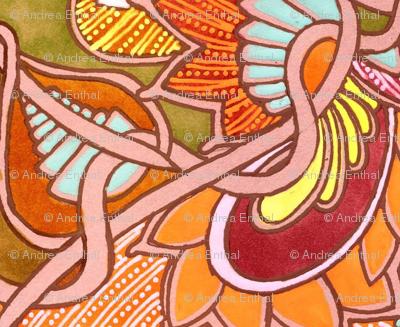 Orange Spirit Interlocking Hexagons