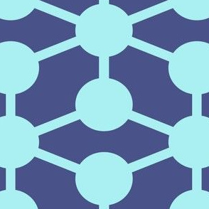 simple molecule in dark blue
