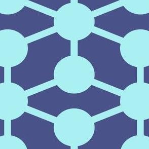 simple molecule in dark blue