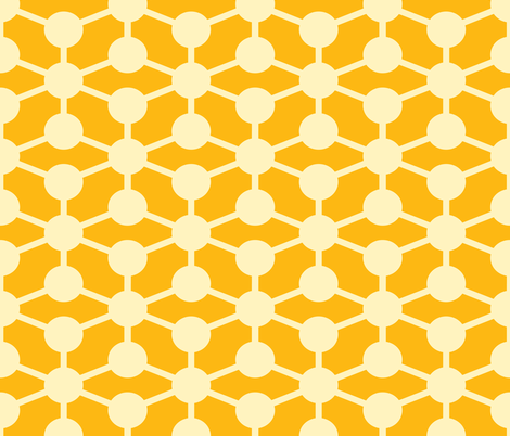 simple molecule in yellow fabric by jenr8 on Spoonflower - custom fabric