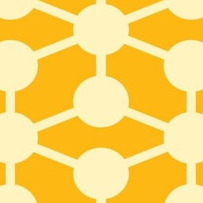 simple molecule in yellow