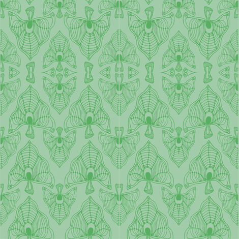 Leaves (mandorla) fabric by kirpa on Spoonflower - custom fabric
