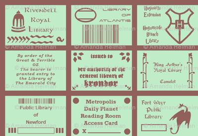 Library Cards of Literary Cities