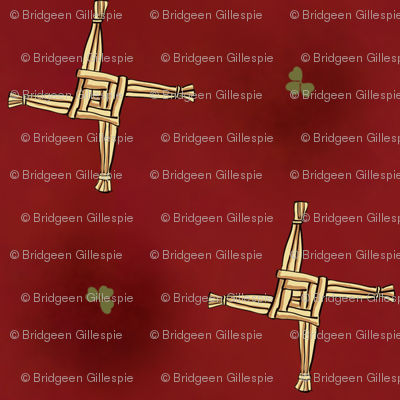 St Brigid's Cross on red