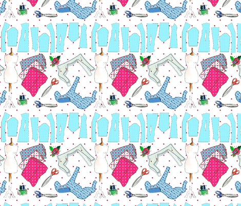 oh ma couture L fabric by nadja_petremand on Spoonflower - custom fabric