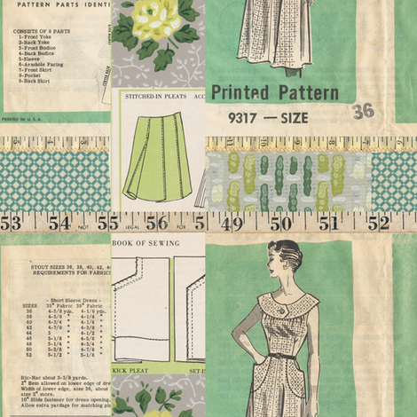 Home Sewn Retro fabric by jodielee on Spoonflower - custom fabric
