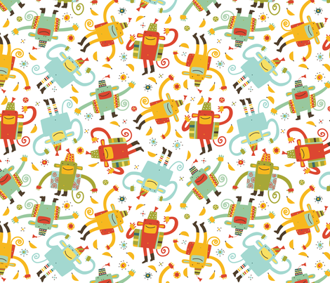 Silly Munky: Munky Dance fabric by cynthiafrenette on Spoonflower - custom fabric