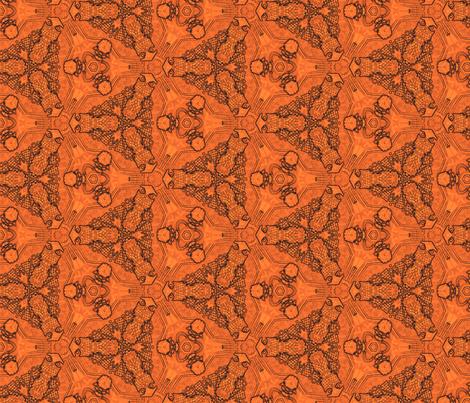 cage-tangerine fabric by wren_leyland on Spoonflower - custom fabric